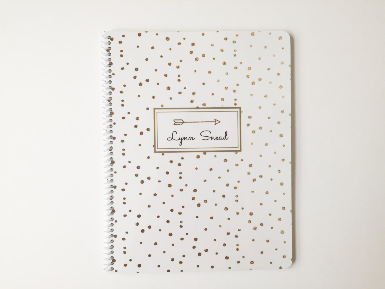 Personalized Gold Confetti Notebook Name Or Monogram