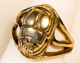 Ancient Egypt Scarab Beetle Brass Ring
