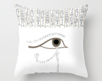 Egypt Pillow Cover or Insert Personalized Color  16x16 18x18 20x20 Egyptian Horus Eye Gift Birthday Women Man Cute Home Accent Decor Trends