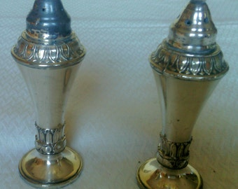 Silver Plate Salt and Pepper