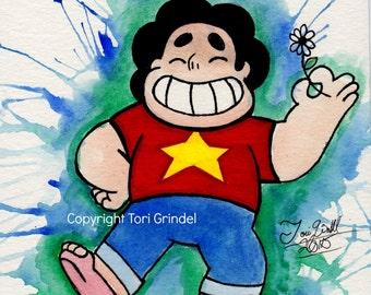 Watercolor Steven Universe Print!