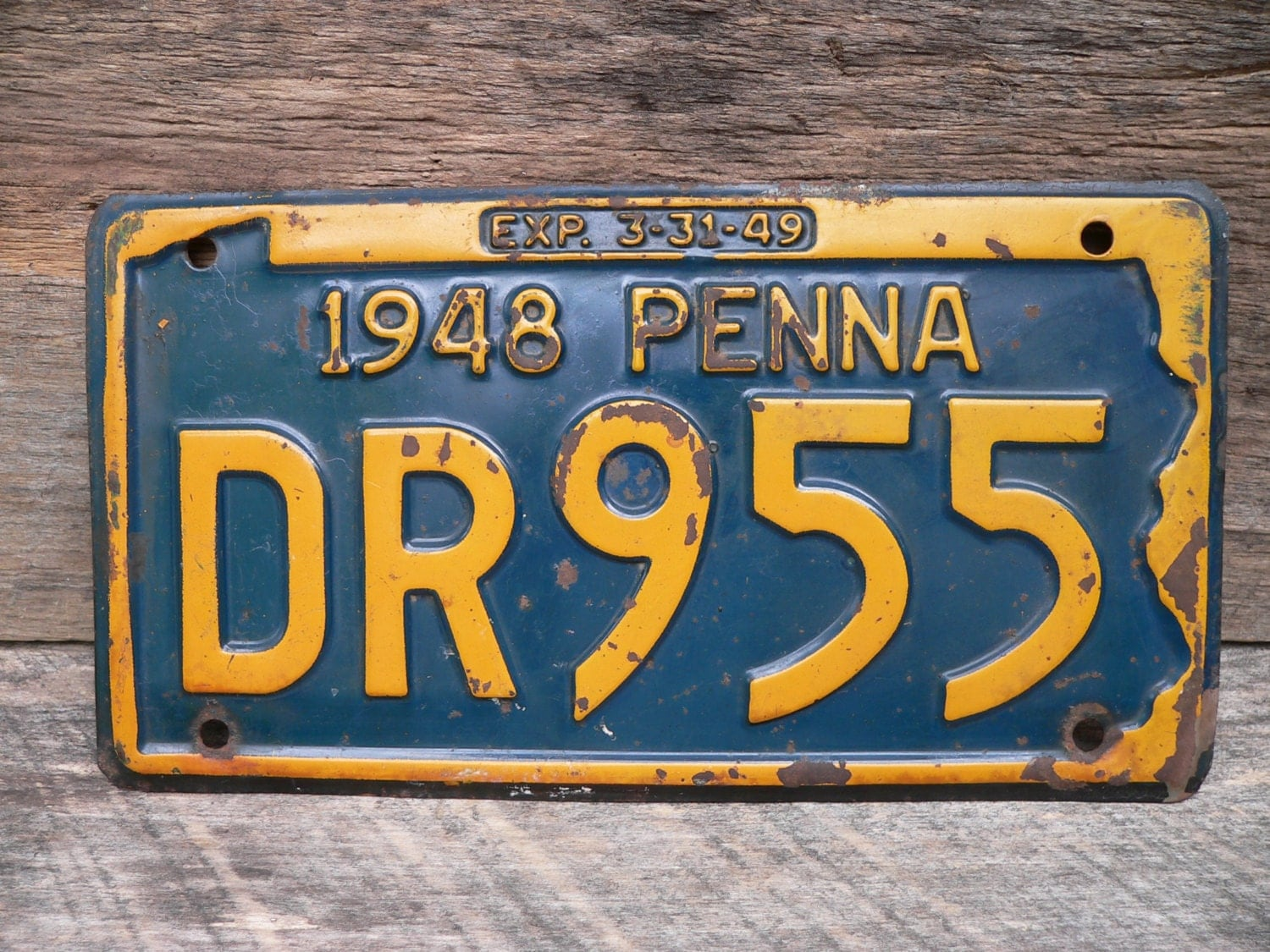 plaque d 39 immatriculation 1948 pennsylvanie auto v hicule. Black Bedroom Furniture Sets. Home Design Ideas