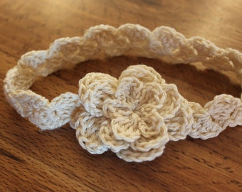 Lacy Newborn Crochet Headband