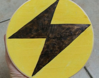Pokemon TCG Type Symbol Cartoon Anime Video Game Trading Cards Logos Woodburning Acrylic Paintings Water Fire Grass Electric