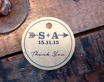 10 x circular swing tags, wedding gift, product tags