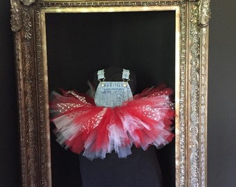 Girls Overalls Tutu Up-cycled
