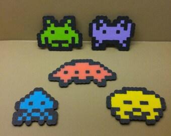 Space Invaders perler beads