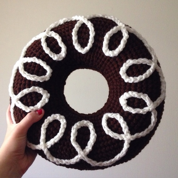 Chocolate Donut Pillow, Crochet Chocolate Donut, Crochet Donut Pillow ...