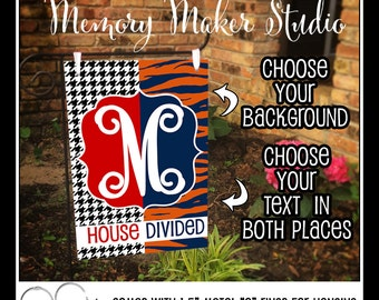 Alabama Auburn House Divided Personalized Lawn And Garden Flag, Choose Your  Teams, Digital Printing