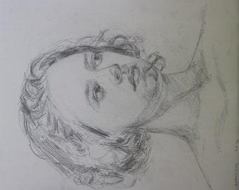 Pencil sketch of a model