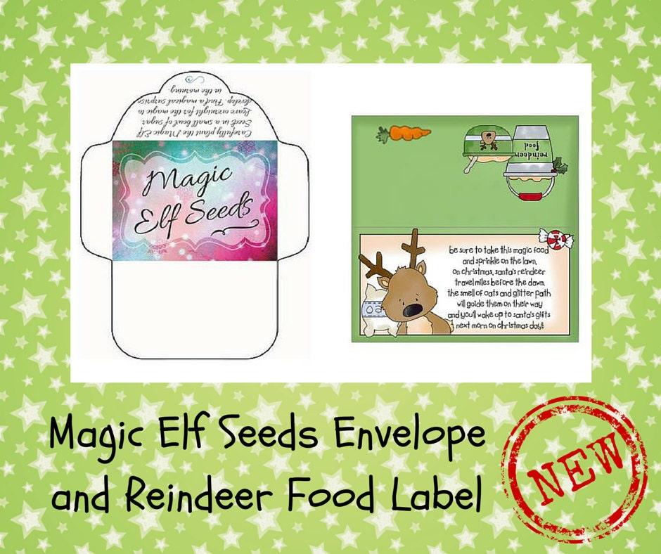 Magic Elf Seeds Reindeer Food Label Elf Printables Elf