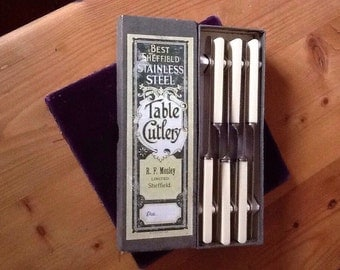 Robert F Mosley Stainless Steel Dessert knives.UK Sale only