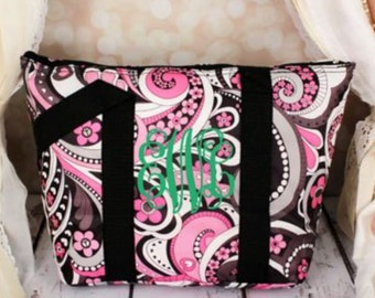Flower Swirl Insulated Lunch Bag