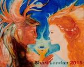 Sacred Union - Healing Art - Visionary Art - Sacred Art - Shari Landau - SacredArtbyShari