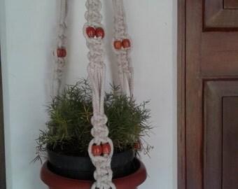 Free shipping - macrame plant  hanger / plant  / pot holder / Natural Hanging planter indoor / outdoor,Bird feeder,rope plant hanger,
