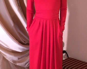 Red Women's Maxi Evening Casual Dress