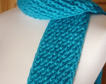 Turquoise lace scarf