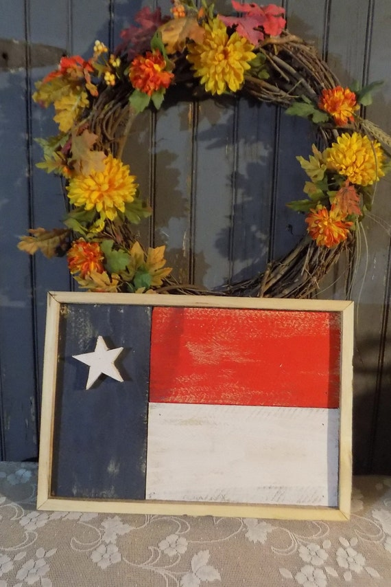 Primitive American Flag Rustic Red White And Blue By