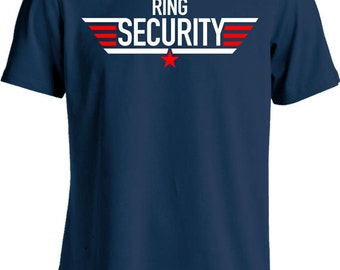 Funny Wedding Shirt Ring Security T Shirt Gifts For Ring Bearer Wedding Party T- Shirt Youth Tee MD-436(RING SECURITY)