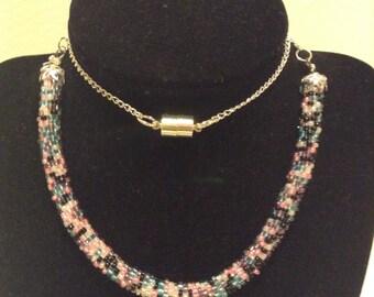 Colorful Minimalist Bead Crochet Necklace