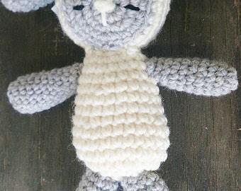 Amigurumi Lamb Wool Soft Toy. Sleepy Lamb Crocheted Toy