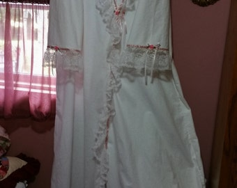 Handmade Victorian/Shabby Full Length Robe to go with your gowns.