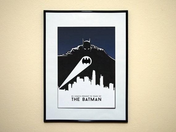 Batman Art Print Batman Poster Print 75th