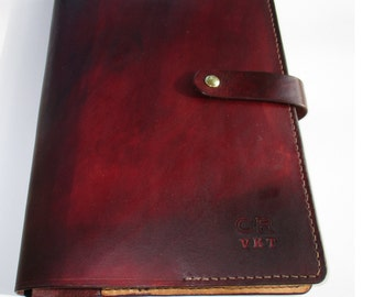 Personalized Leather Journal Large  Embossed Diary. Book Cover fits A4 Size ( 9 x 12 Inches)