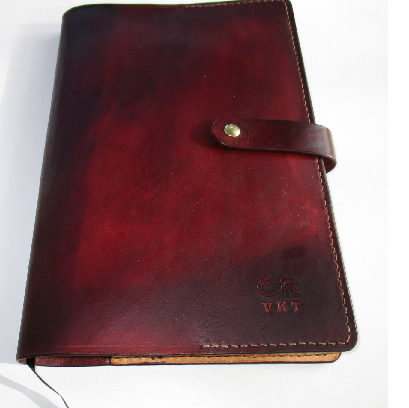 Personalized Leather Journal Large Embossed Diary Book Cover