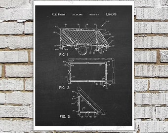 Soccer Goal Poster Patent print #3 Black & White Chalkboard Patent art, Gift for Soccer Mom, Boys Bedroom Art, Soccer Poster Soccer Decor