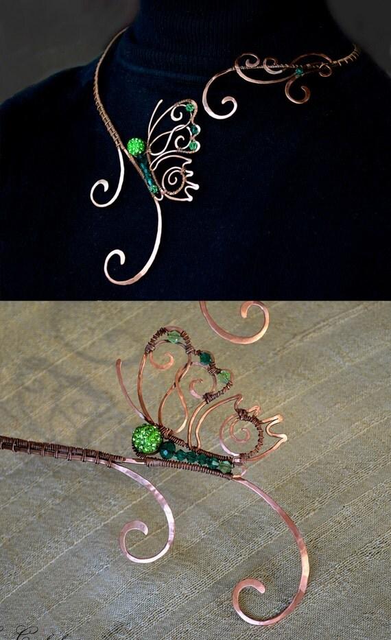 Schönheit Geschenk Halskette Schmetterling Schmuck Kupfer
