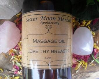 Love Thy Breasts - Massage Oil  4 oz.