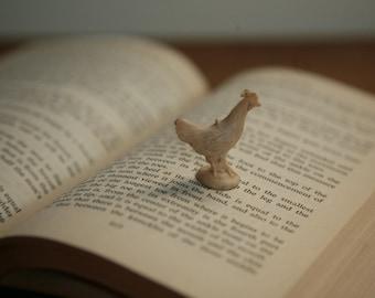 Vintage Tiny Chicken - Farm Animal Toy Figurine - rooster or chicken farm animals