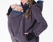 4in1 Kangaroo belly to baby hoodie Baby carrying jacket hoodie with four functions Babycarrier jacket handmade with love by GoFuture