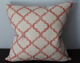 """One 18""""x18"""" or One 12""""x20""""-Red Beige Geometric Design Pillow Cover"""