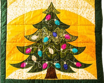 Christmas Tree Crazy Quilt