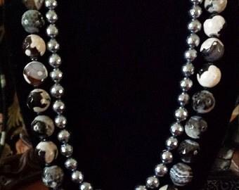 Two strand Semi-precious stone necklace