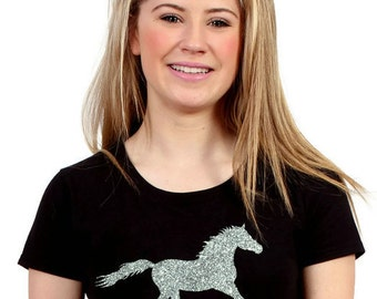 Galloping Horse Glitter T-Shirt