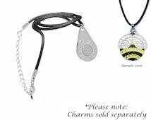 Bella Charm Satin Necklace, Satin Necklace, Magnetic pendant, Personalization, Swarovski Charm, Crystal Charm, Golf Ball Marker Necklace