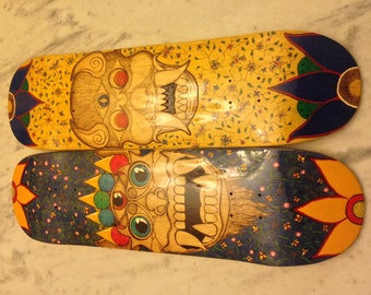 Barong and Rangda Balinese Mythology Skateboard Set