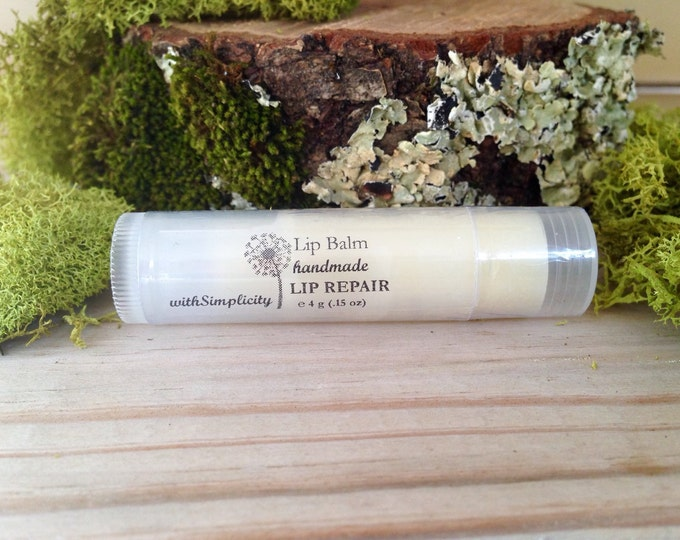 Lip Balm LIP REPAIR Moisturizing  in a clear twist up tube, ORGANIC