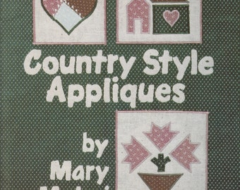 Mary Mulari Country Style Appliques - Accessories Sewing Pattern - Applique Embroidery Patterns - Craft Pattern