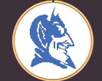 Duke Blue Devils Cross Stitch Pattern North Carolina Embroidery Needlepoint: Buy 2 Patterns Get 1 FREE!