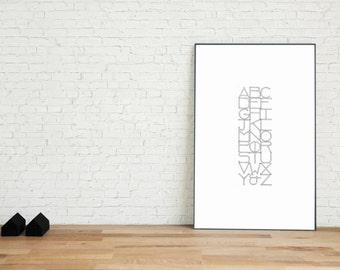 Alphabet III Art Print | The Grid Series