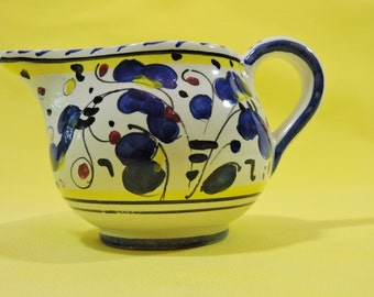 Hand-Painted Pottery Italian Creamer Pitcher