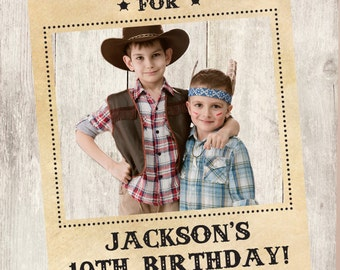 Wanted Poster Frame DYI / Photo Booth Prop / Cowboy Party, Birthday, Sleepover, Wild West ▷Printable PDF