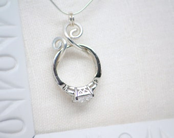 ring holder necklace wedding or engagement ring holder