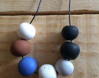 Handmade Island Polymer Clay Bead Necklace