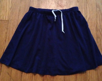 90s Blue High Waist Athletic Skirt- Size. S/M