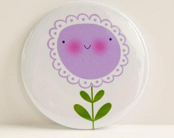 Purple Flower Pocket Mirror